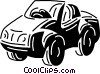 Vector Clip Art graphic  of a Trucks and cars