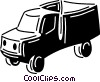 Trucks and cars Vector Clipart image