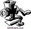 Vector Clipart graphic  of a Meat Grinders