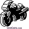 Vector Clip Art image  of a Street Bikes