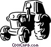 Vector Clip Art picture  of a Tractors