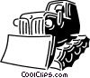 Vector Clip Art graphic  of a Bulldozers