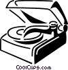 Vector Clipart image  of a Contemporary Record Players