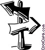 Vector Clip Art image  of a Street Signs Road Signs