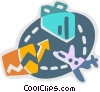 Vector Clip Art graphic  of a Flight