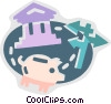 Vector Clipart picture  of a Financial Concepts