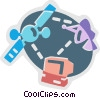 Broadcasting and Communications Vector Clipart image