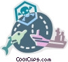 Vector Clip Art graphic  of a Pollution