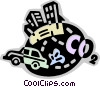 Vector Clipart graphic  of a Pollution