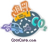 Vector Clip Art image  of a Pollution