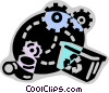 Vector Clipart graphic  of a Recycle Machine