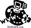 Vector Clip Art graphic  of a Internet
