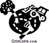 Vector Clip Art image  of a Forestry and Logging