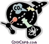 Vector Clipart illustration  of a Pollution