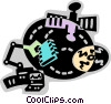 Vector Clip Art picture  of a Broadcasting and