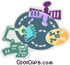 Vector Clipart image  of a Broadcasting and