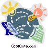 Vector Clip Art graphic  of a Solar