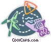 Hydro Dams Vector Clipart illustration