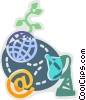 Vector Clipart graphic  of a Broadcasting and