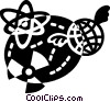 Vector Clip Art graphic  of a Radioactive Symbols