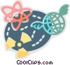 Radioactive Symbols Vector Clip Art graphic