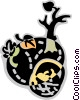 Vector Clip Art graphic  of an Autumn
