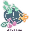 Vector Clip Art graphic  of a Spring