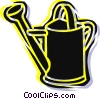 Vector Clip Art graphic  of a Watering Cans