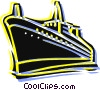 Vector Clipart illustration  of a Cruise Ships and Ocean Liners