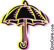 Umbrellas Vector Clipart graphic