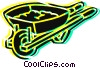 Wheelbarrows Vector Clip Art graphic
