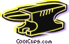 Vector Clip Art image  of an Anvils