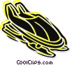 Snowmobiling Vector Clipart image