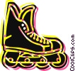 Rollerblading Vector Clipart illustration