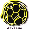 Soccer Balls Vector Clipart illustration