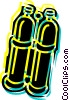 Vector Clip Art picture  of a Scuba Diving