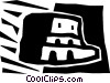 Vector Clip Art image  of a Roman Coliseums