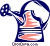 Watering Cans Vector Clipart illustration