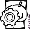 Vector Clipart image  of a Gears