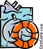 Life Vests and Preservers Vector Clip Art graphic