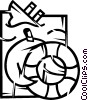 Vector Clipart image  of a Life Vests and Preservers
