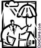 Vector Clip Art image  of a Rain