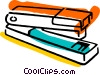 Vector Clipart illustration  of a Staplers