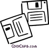 Vector Clipart illustration  of a Diskettes Floppy Disks