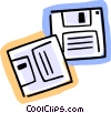 Vector Clip Art picture  of a Diskettes Floppy Disks