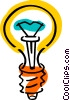 Vector Clip Art image  of a Light bulbs