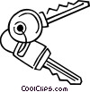 Vector Clip Art picture  of a Keys and Locks
