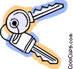 Keys and Locks Vector Clip Art graphic