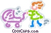 Strollers and Carriages Vector Clipart graphic