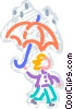 Rain Vector Clip Art graphic